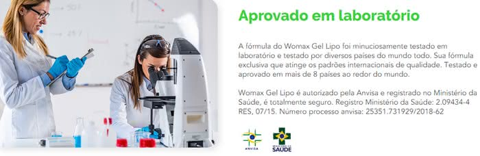 Womax Gel Lipo Farmácia